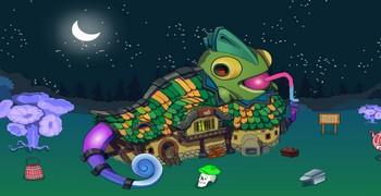 Спасти хамелеона