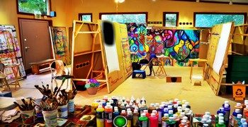 Выйти из комнаты художника