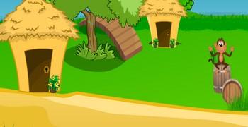 Выйти из лесного домика