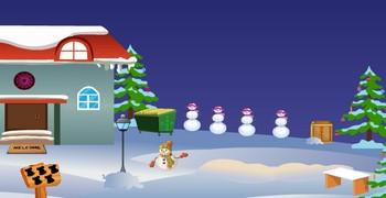 Выйти из дома в новогодний снег