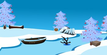 Спасти Санту из снежной избушки