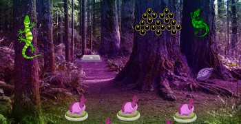 Одинокий ящерный лес