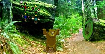 Танцующий медведь в лесу