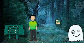 Мальчик в лесу с привидениями