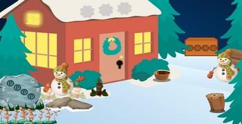 Снег деревня убегать