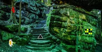 Выйти из леса у зелёной скалы