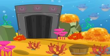 Найди сокровище в доме-аквариуме