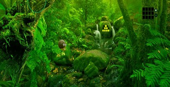 Побег голубя из зелёного леса