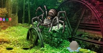 Лес с гигантскими пауками