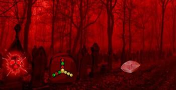 Страшный красный лес