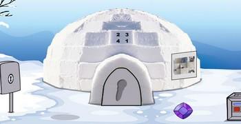 Полярный мишка сидит в клетке