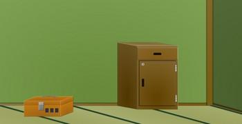 Комната с зелёными стенами