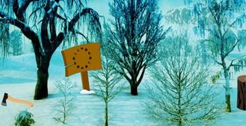 Зимний рождественский лес