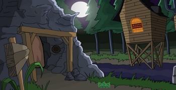 Побег кролика из пещеры