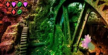Пасхальный лес с руинами