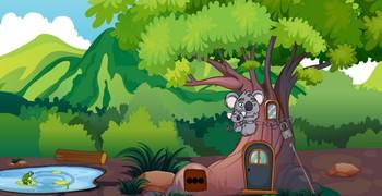 Медведь коала побега хочет
