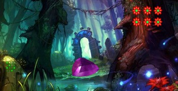 Фантастические камни в лесу