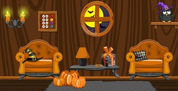 Деревянная комната на Хэллоуин