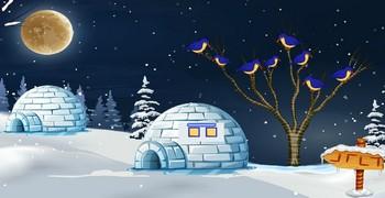 Мрачный зимний дом