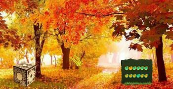 Рыжий осенний лес