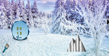 Снежный новогодний лес